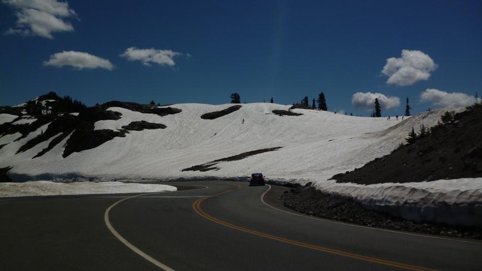 Estrada sem neve...